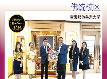 给篮子新年快乐Suan Sunandha Rajabhat大学理事会主席